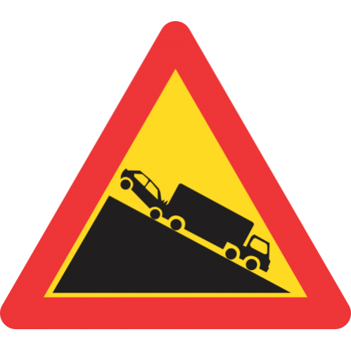 TW324 - Temporary Slow Moving Heavy Vehicle Road Sign