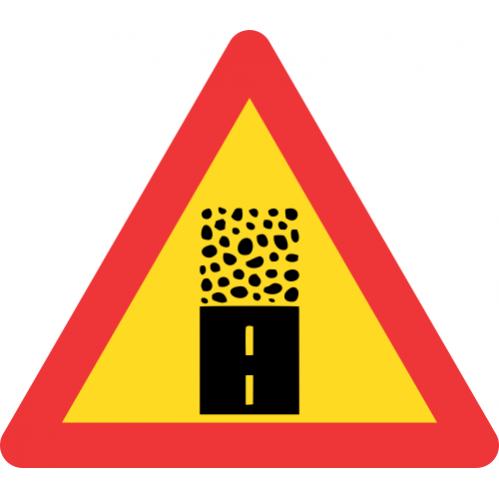 TW325 - Temporary Gravel Road Begins Road Sign
