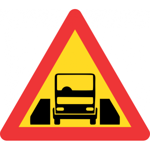 TW327 - Temporary One Vehicle Width Structure Road Sign