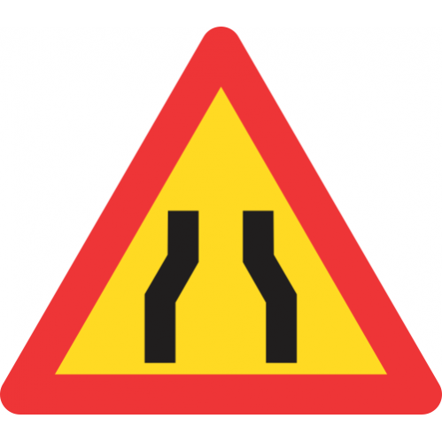 TW328 - Temporary Road Narrows Both Sides Road Sign