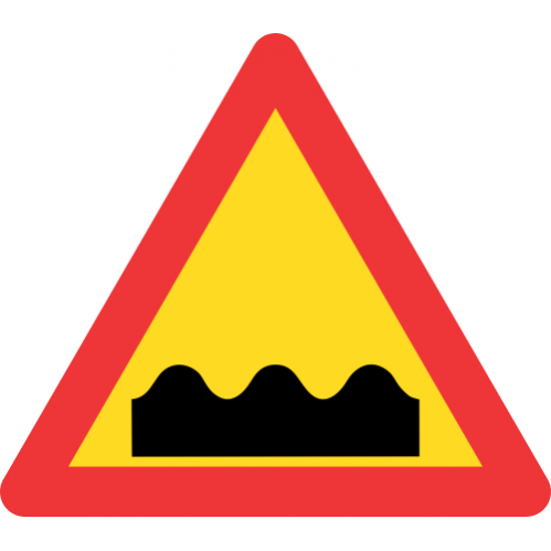 TW331 - Temporary Uneven Roadway Road Sign