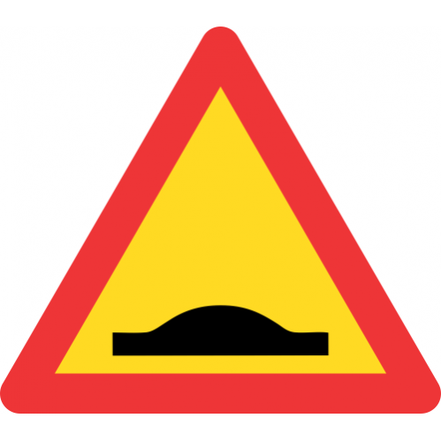 TW332 - Temporary Speed Hump Road Sign