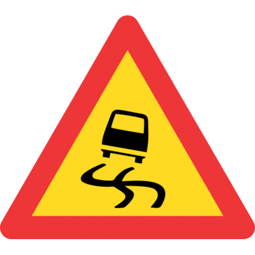 TW333 - Temporary Slippery Road Road Sign