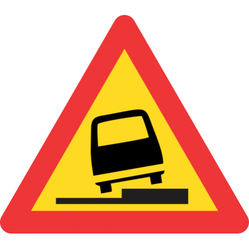 TW340 - Temporary Surface Step Right Road Sign