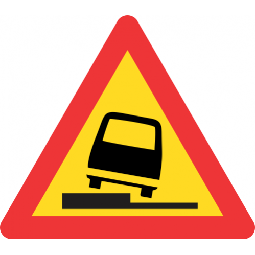 TW341 - Temporary Surface Step Left Road Sign