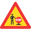 """TW434 - Temporary """"Stop/Go"""" Control Ahead Road Sign"""