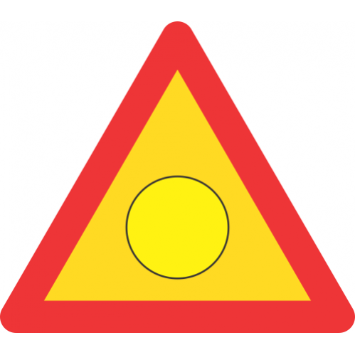 TW346 - Temporary Emergency Flashing Light Road Sign