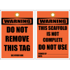 STC16 - Warning Do Not Remove Tag