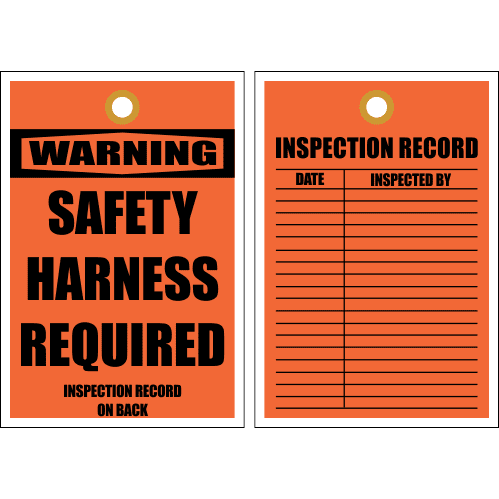 STC6 - Warning Safety Harness Tag
