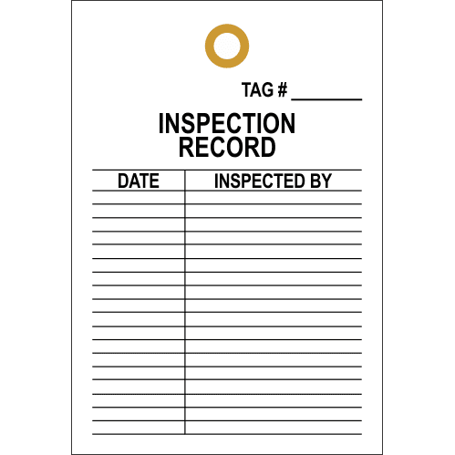 STI2 - Inspection Record Number Tag