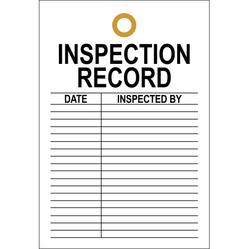 STI1 - Inspection Record Tag