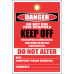 STU5 - Danger Keep Off Scaffold Tag