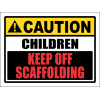 SC32 - Caution Children Off Scaffolding Sign