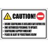SC7 - Caution Scaffolding Sign