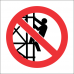 SC21 - Climbing Of Scaffold Prohibited Sign