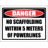 SC13 - Danger - Scaffolding Within Powerlines