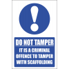 SC14 - Do Not Tamper Sign