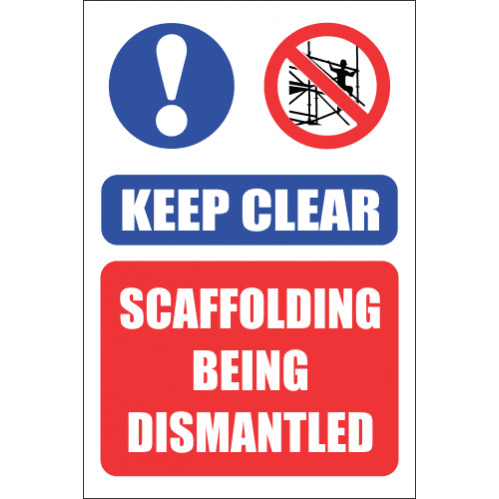 SC9 - Keep Clear Scaffolding Sign