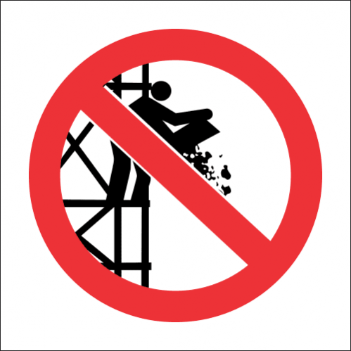 SC22 - No Dumping From Scaffold Sign