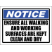 SC20 - Notice Clean And Dry Sign
