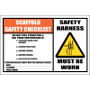 SC29 - Scaffold Safety Checklist Sign