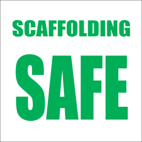 SC1 - Scaffolding Safe Sign