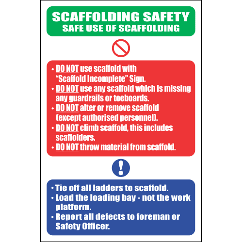 SC15 - Scaffolding Safety Sign