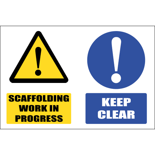SC27 - Scaffolding Work In Progress Sign