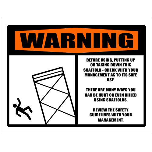 SC31 - Warning Before Using Scaffold Sign