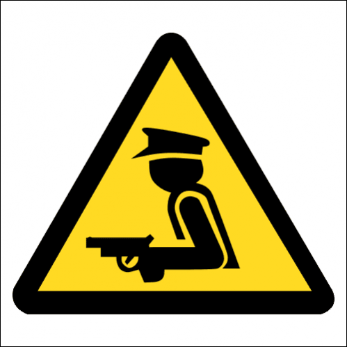 SE84 - Armed Security Guard Sign
