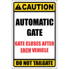 SE19 - Caution Automatic Gate Sign
