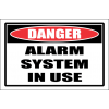 SE71 - Danger Alarm System Sign