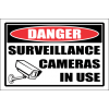 SE72 - Danger Surveillance Cameras Sign