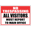 SE43 - No Trespassing All Visitors Sign