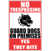 SE39 - No Trespassing Guard Dogs Sign