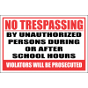 SE35 - No Trespassing School Sign