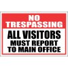SE32 - No Trespassing Sign