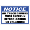SE86 - Notice All Truck Drivers Sign