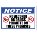 SE9 - Notice No Alcohol Or Drugs Sign