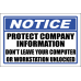 SE89 - Notice Protect Company Information Sign