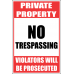 SE37 - Private Property Sign