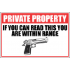 SE52 - Private Property Sign