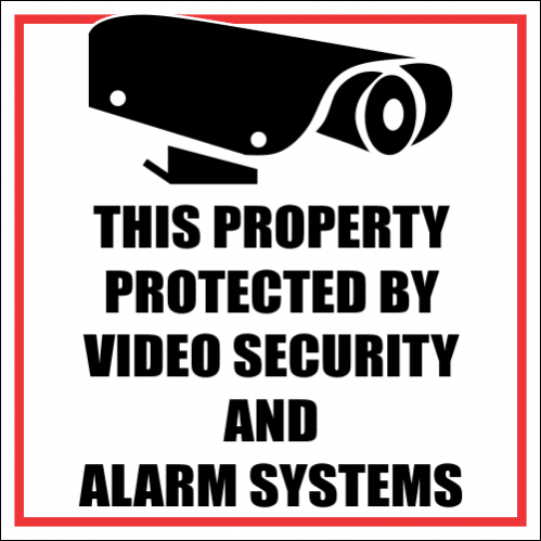 SE16 - Property Protected By Sign