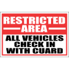 SE102 - Restricted Area Sign
