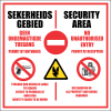 SE57 - Security Area Sign
