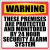 SE17 - Warning 24 Hour Security Sign