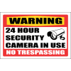 SE5 - Warning 24 Hour Security Sign