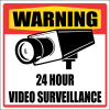 SE6 - Warning 24 Hour Video Surveillance Sign