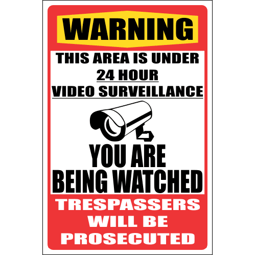 SE88 - Warning Being Watched Sign