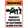 SE41 - Warning Electronic Alarm System Sign